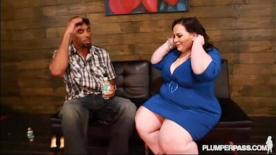 Black Cock Strokes His Thick White Booty