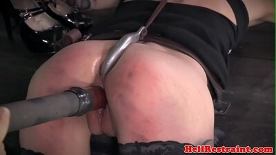 Redhead beauty gets gang dominated