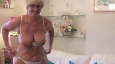 British and voluptuous granny Samantha