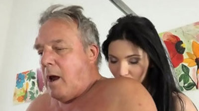 Grandpa at the doctor fucks young nurses in old young pornography