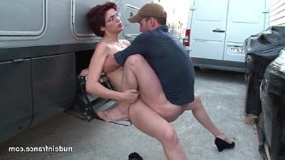 fledgling redhead assfuck fucked and knuckleed by the taxi dsea outdoor