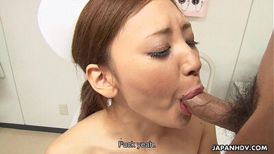 Asian Nurse Gets Her Pussy Wet And Adrenaline Sex