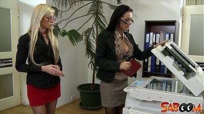 Big Tit Lesbian Newbie In Sexy Office