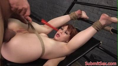 Bondage pussy showing part