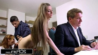 Sneaky Skinny Bastard Fucks Bosss wifey and Daughter Tarra White, Leyla Morgan