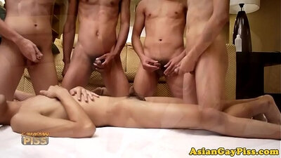 Cum gangbanging asian piss fetish