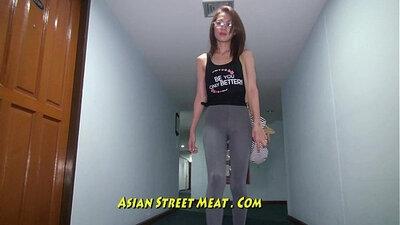 asian hotwife likes white dick in van