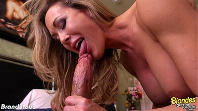 Blondie Brandi Love has self fucked two studs right there