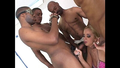 White gangbang sex? Jeepers loves big black cocks