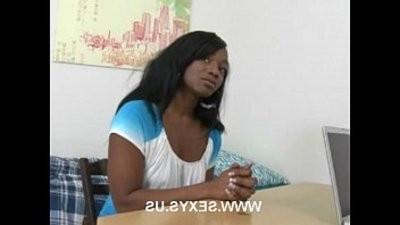 Ebony hook upy blonde chick