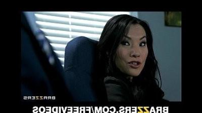 Office arseissunburnt Asa Akira shows her boss her flexiboy slotlity