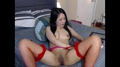 Horny Filipina plays with pussy