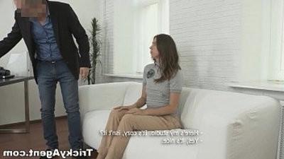 Tricky Agent Seducing a shy first timer Ananta Shakti teen hd pornography