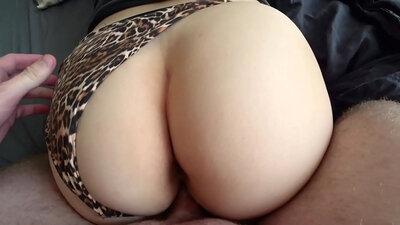 Homemade ass Kristen Kwan wears hat and panties
