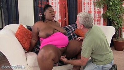 Thick black girl takes big dick