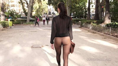 minors caught in pantyhose in public