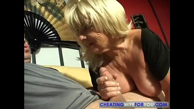 Busty mature blonde blowjob hard positions on dick
