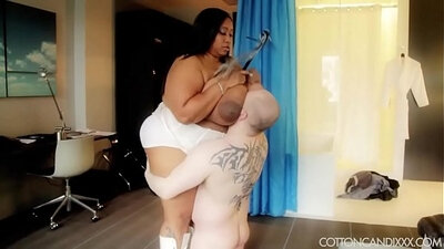 Hard Black Crossdresser With Fat Slave