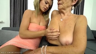Granny Malya and her much youthfuler friends pussy