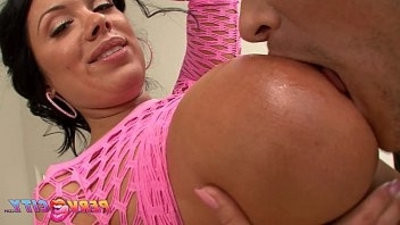 PervCity Busty Mom Sucking black dick