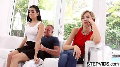 Step mum fucks with stepdaughter