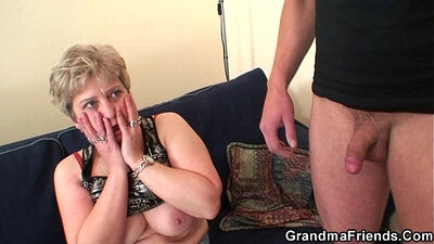 Hot grandma oriental grinding and swallowing cock