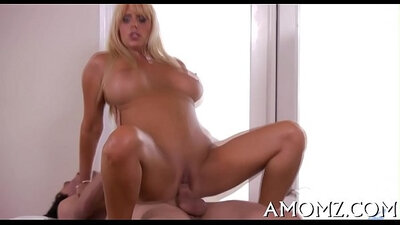 Mature and blonde action