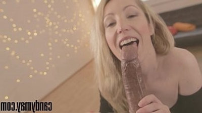 Candy May Pantie cum, deep mouthjob