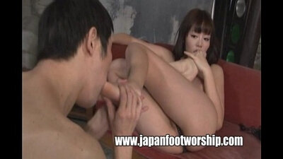 Foot fetish japanese walking, footfucked