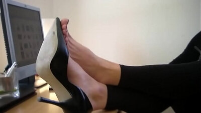 Scene from a thigh high office