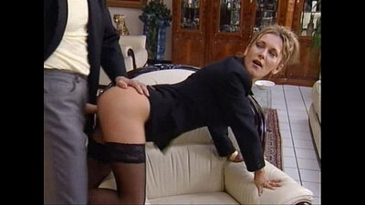 Alluring secretary gives a head in a office