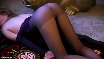 Caught Getting soapy In Pink Pantyhose