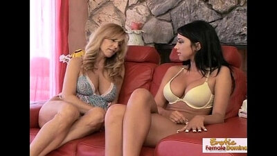 First Time While Stood Lesbian Gets Fucked and Valentina