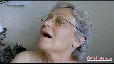 Hairy Granny Pussy Fucked Hard With Dildo By Mandingo!