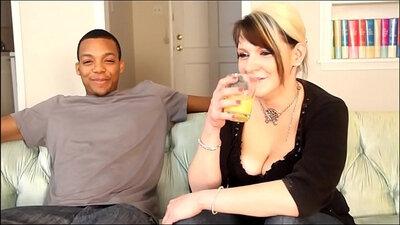 Gaping white slut ts pussy