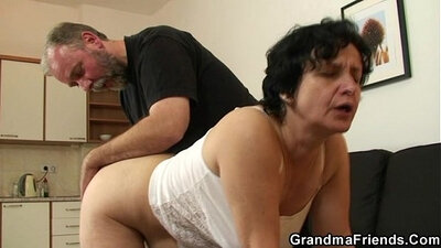 Big white granny begs for cocks to take her pussy