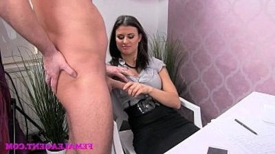 FemaleAgent Horny stud wants to finish on hookupy agents amazing tits