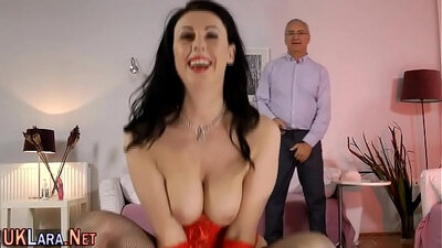 Nice creampie anal by mature cutie in hotel