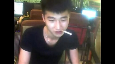 Asian girl played by big cock on live webcam