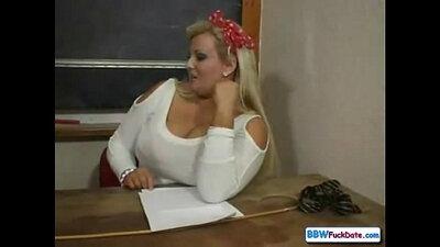 Chubby Teacher Ash Taylor Big Toy Tease