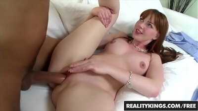 Redhead Rachel mouths raw cock for a chance at cum