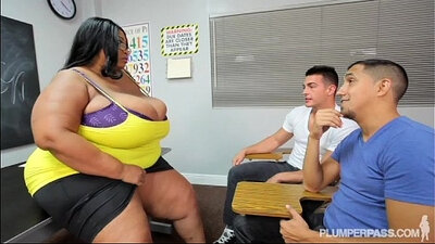 Busty Black BBW Facials With Teacher Corinna Lynn
