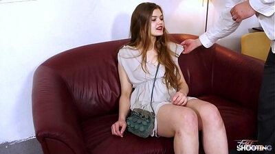Casting newbie Angel wishes to be a pornstar