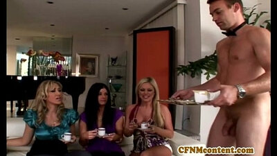Cfnm femdom girls cum on tops