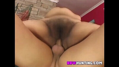 Black BBW with beautiful tits and hairy pussy