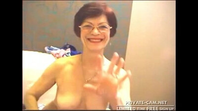 Blonde Mature granny tutor sex on webcam