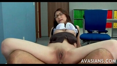 Porn WORKOUT Japanese Boss Hard Anal Sex Begin With Her Wet Ass Feet