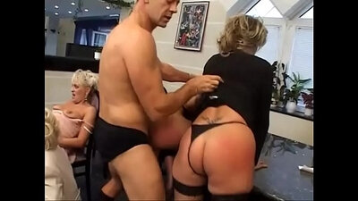 Hot hottie group and enduring MILF orgy