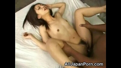 asian chick sucking a huge black cock