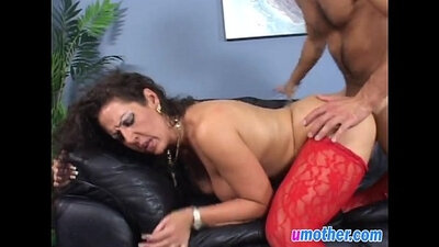 Athletic big tits step mom Dominic Ocean fucks her twat doggy style
